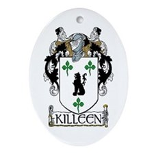 Killeen Coat of Arms Oval Ornament