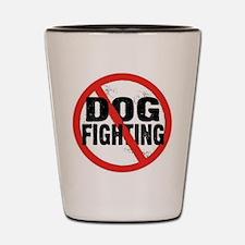 dog_fighting_circle Shot Glass