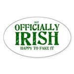 Officially Irish Oval Sticker
