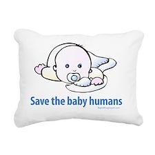 save_the_baby_humans Rectangular Canvas Pillow