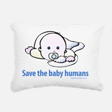 save_the_baby_humans Rectangular Canvas Pillow