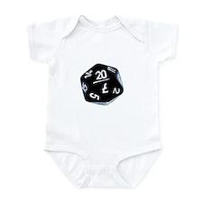 black D20 Infant Bodysuit