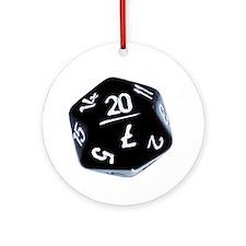 black D20 Ornament (Round)