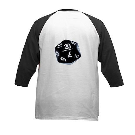 black D20 Kids Baseball Jersey