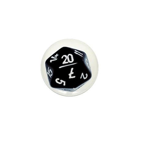 black D20 Mini Button