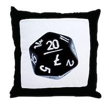 black D20 Throw Pillow