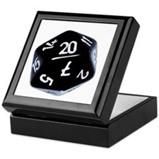 black D20 Keepsake Box