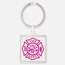 maltese cross1larger Square Keychain