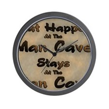 What Happens At The Man Cave Wall Clock