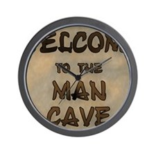 Welcome To The Man Cave Wall Clock