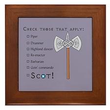 Checklist Framed Tile