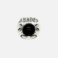 2-ABIDES_Black Mini Button