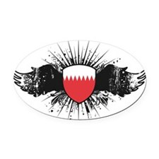 Wings1Bahrain1 Oval Car Magnet