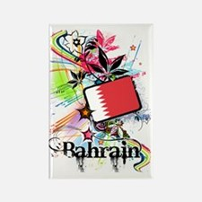 flowerBahrain1 Rectangle Magnet