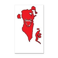 MapOfBahrain1Bk Rectangle Car Magnet