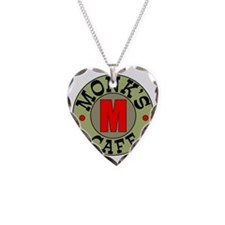 new_monks_round_logo Necklace