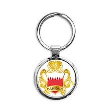 Gold1Bahrain1 Round Keychain