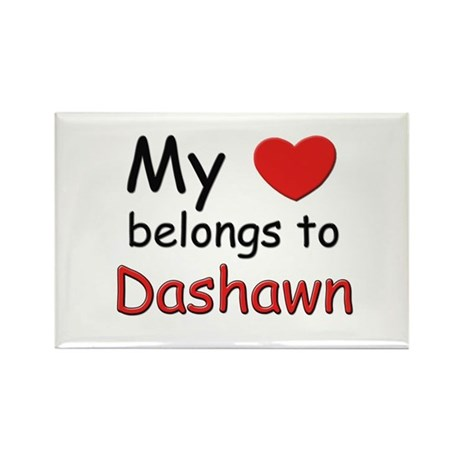 My heart belongs to dashawn Rectangle Magnet
