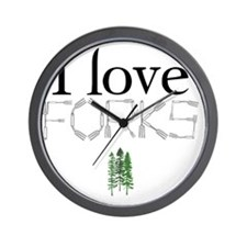 love forks 2 Wall Clock