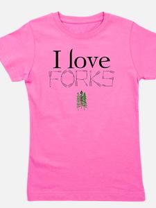 love forks 2 Girl's Tee