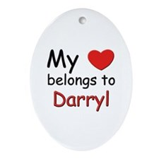 My heart belongs to darryl Oval Ornament