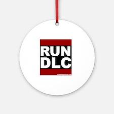 run_dlc_large_MHW_white Round Ornament