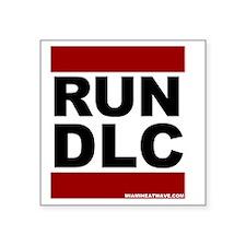 "run_dlc_large_MHW_black Square Sticker 3"" x 3"""