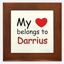 My heart belongs to darrius Framed Tile