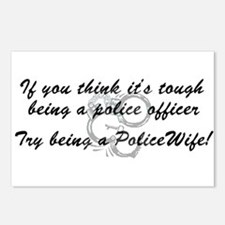 Funny Policemans wife Postcards (Package of 8)