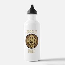 2-Doodles-Rule-Wood-Sc Water Bottle