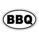 Bar-B-Que BBQ Euro Oval Sticker