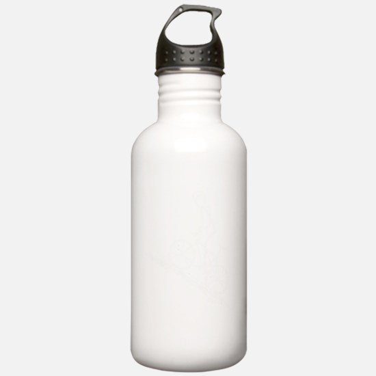 2-Mountain biker white Water Bottle