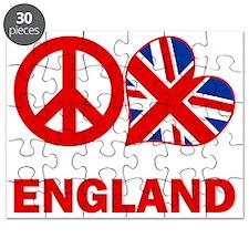 Peace Love England Puzzle
