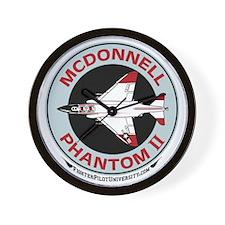 McDonnell_PhantomII_Wht Wall Clock