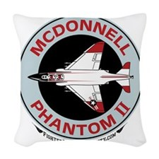 McDonnell_PhantomII_Wht Woven Throw Pillow