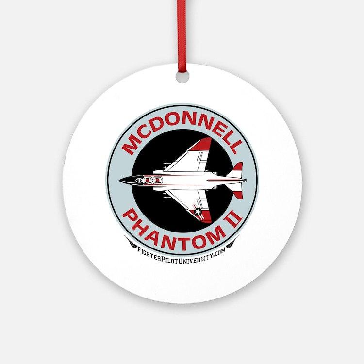 McDonnell_PhantomII_Wht Round Ornament