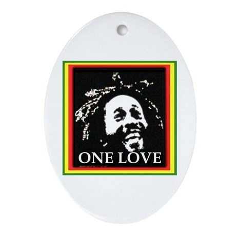 ONE LOVE Oval Ornament