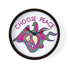 Choose Peace Wall Clock