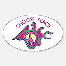 Choose Peace Oval Decal