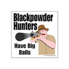 "big balls hunting Square Sticker 3"" x 3"""
