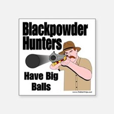 "big balls hunting Square Sticker 3"" x 3"""