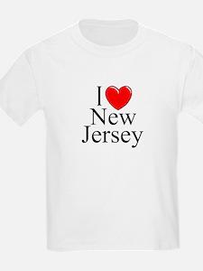 """""""I Love New Jersey"""" Kids T-Shirt"""