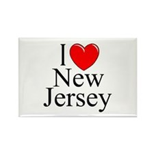 """""""I Love New Jersey"""" Rectangle Magnet"""