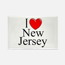 """I Love New Jersey"" Rectangle Magnet"