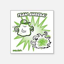 "team-amoeba-greenest Square Sticker 3"" x 3"""