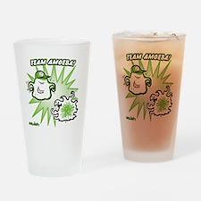 team-amoeba-greenest Drinking Glass