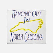 North Carolina - Hanging Out Throw Blanket