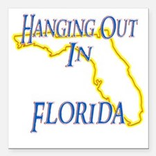 """Florida - Hanging Out Square Car Magnet 3"""" x 3"""""""