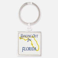 Florida - Hanging Out Square Keychain