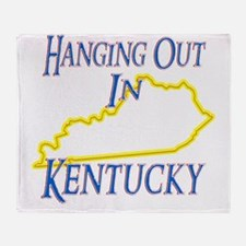 Kentucky - Hanging Out Throw Blanket